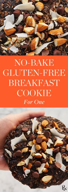 No-Bake Gluten-Free Breakfast Cookie for One #purewow #easy #baking #food #cooking #recipe #breakfast