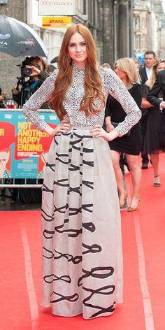 Karen Gillan with long red hair