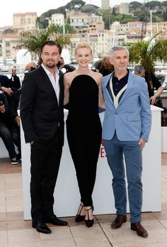 Leonardo DiCaprio, Carey Mulligan and Baz Luhrmann attending the photo call for the movie The Great Gatsby during the 66th Cannes Film Festival 2013 in France - May 15, 2013 - Photo: Runway Manhattan/Bauer-Griffin