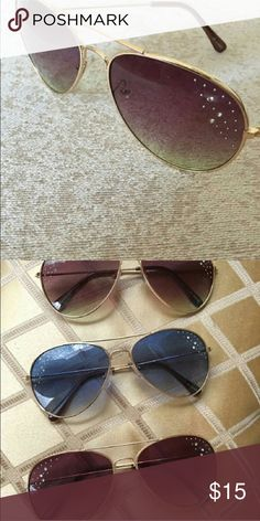 🌟NEW ITEM🌟Rhinestone aviator sunglasses NWT. 🌟Just arrived🌟 rhinestone avatar sunglassss come in two colors brown or blue.. Bundle and get deals and a surprise gift 💕 Accessories Sunglasses