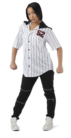 Pinstripe Athletic Jersey - HH80 - Costume Gallery Hip Hop Costumes 6b14362f0351