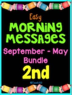 Morning Message: Year Bundle - 2nd Grade: Save time and review skills with these morning messages. These work great for emergency sub plans or those days when you get pulled from class for a last minute meeting. Answers are included so you could also set this up as a self-checking writing center. Common Core Standards: RF.2.3, RF.2.4, and L.2.2 #Phonics #MorningMessages paid