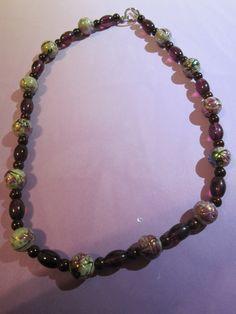 Purple/ Multi Glass Bead SilverTone by BeadazzlingButterfly, $19.00