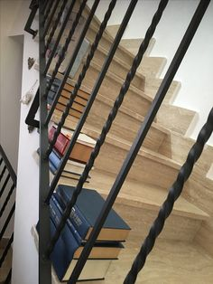 Books on a staircase