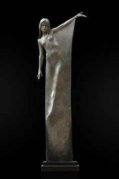 Seraphina Bronze Sculpture by Michael James Talbot Contemporary Sculpture, Contemporary Art, Statue Ange, Fantasy Kunst, Sculpture Clay, Ceramic Sculptures, Art Sculptures, Sculpting, Saatchi Art