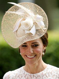 Catherine, Duchess of Cambridge, wearing Dolce & Gabbana dress & Jane Taylor millinery, Royal Ascot 2016 - Day 2