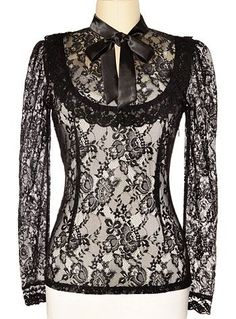 Victorian blouse - Dark Victoria Black Lace Steampunk Blouse  AT vintagedancer.com - womens black blouse with collar, floral shirt blouse, black and white blouses & tops *sponsored https://www.pinterest.com/blouses_blouse/ https://www.pinterest.com/explore/blouse/ https://www.pinterest.com/blouses_blouse/blouse-designs/ https://www.everlane.com/collections/womens-tops