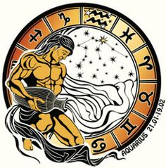 Ilustração de Tanned long haired male Aquarius sits and pouring water out of a vase He dressed in drapery Behind him, range of horoscope signs of the zodiac ,the stars and the constellation of Aquarius arte vetorial, clipart e vetores stock. Zodiac Signs Horoscope, All Zodiac Signs, Zodiac Capricorn, Astrology Signs, Tarot, Leo Birthday, Art Techniques, Constellations, Graphic Illustration