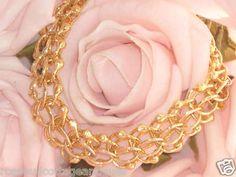 NEVER WORN** HUGE ANTIQUE VINTAGE 12K YELLOW GOLD GF ORNATE CHARM BRACELET 25gm | eBay