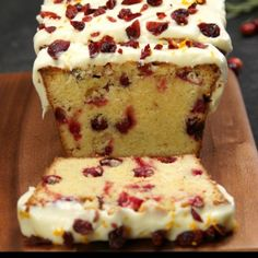 Still looking for that perfect Christmas dessert? Try a delicious pound cake that's all dressed up for it with cranberries, orange zest and creamy frosting.