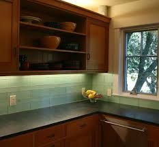 green glass subway tile with maple cabinets | kitchen | pinterest