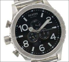 Nixon 51-30 Chrono - Men's ( Silver/Black ):Amazon:Watches