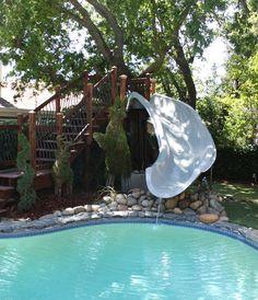 Water Slide For Backyard Pool Idea