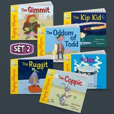 Ragtag Rhymes set 2 -decodable readers with nonsense rhymes