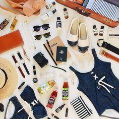 Beach essentials.