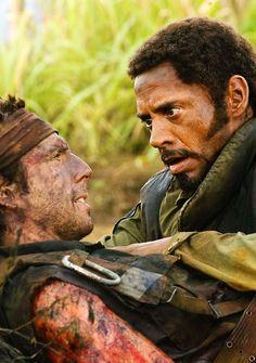 Ben Stiller & Robert Downey Jr in Tropic Thunder