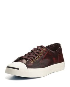Jack Purcell Marbled Leather Sneakers, Red by Converse at Neiman Marcus.
