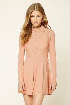 Sweet as sugar burgundy long sleeve lace dress