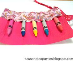 Duct Tape Crayon Roll- Keep track of all those crayons during a long car ride with this fashionable, cute organizational craft.