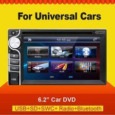 (84.55$)  Buy here  - Car Radio Recorder car dvd player Bluetooth 2 din universal for X-TRAIL Qashqai x trail juke Stereo Radio Bluetooth USB/SD