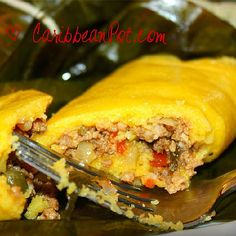 #Trinidad #pastelle #Tobago Did some pastelles over the weekend. A holiday tradition in Trinidad and Tobago. | by Caribbean Pot