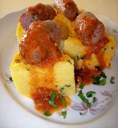 Polenta all'Abruzzese con salsicce