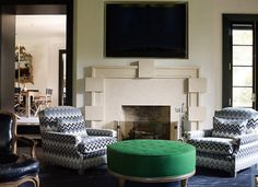 Regency Redux living room by designer Steven Grambell.