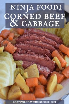 This easy to make Ninja Foodi Corned Beef and Cabbage recipe is simply made using the pressure cooker function. And it is deliciously flavored with a bit of Guinness Draught Stout. The result is perfectly fork tender corned beef that is incredibly tasty! Sliced Beef Recipes, Crockpot Cabbage Recipes, Corned Beef Recipes, Pressure Cooker Corned Beef, Pressure Cooker Recipes, Slow Cooker, Pressure Cooking, Boiled Dinner, Corned Beef Brisket