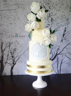 Winter Wedding by Cake Heart - http://cakesdecor.com/cakes/270032-winter-wedding