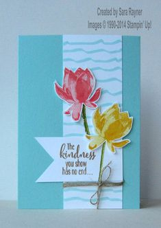 Sale-a-bration lotus blossom card, using supplies from Stampin' Up! www.craftingandstamping.com #stampinup