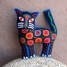 molas kitty - quilt or sewing inspiration