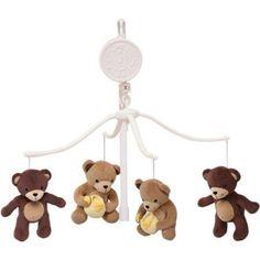 Bedtime Originals by Lambs & Ivy - Honey Bear Musical Mobile, Brown