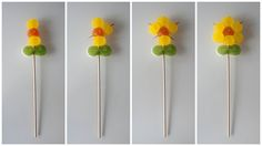 Paso a paso de como hacer flores de gominolas Chocolate Roses, Chocolate Bouquet, Chocolate Gifts, Edible Crafts, Food Crafts, Diy Crafts, Bouquet Cadeau, Candy Bouquet, Fruit Creations