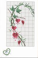 "Cross-stitch Bleeding Hearts Vine Heart, part 1...  color chart on part 3...   Gallery.ru / Auroraten - Альбом ""4072"""