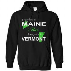 (LiveXanhLa001) 040-Vermont - #tshirt serigraphy #sweater refashion. SATISFACTION GUARANTEED => https://www.sunfrog.com//LiveXanhLa001-040-Vermont-1525-Black-Hoodie.html?68278
