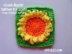 Here is the Stash Bustin' Sunflower In A Square free crochet pattern! Also available is the Dahlia In A Square and the Flower In A Square. Be sure to test them all out and keep a watch for what is soon to come! Crochet Supplies I used 4.25 MM hook Medium Weight Yarn Yarn Needle …
