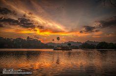 Dusk over the lake, Kandy, Sri Lanka #SriLanka #Kandy #Lake #Sunset