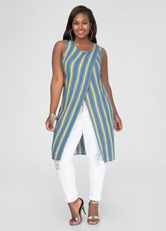 Striped Crossover Tunic