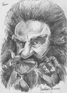 Gloin the Dwarf by CaseyJRhodesArt on Etsy