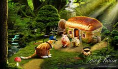 Photoshop Artwork #02 - Forest house :: Ym.d_story