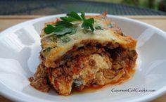 Grilled eggplant lasagna - low carb & grain free low carb re Primal Recipes, Paleo Recipes, Low Carb Recipes, Real Food Recipes, Cooking Recipes, Eggplant Lasagna, Grilled Eggplant, Chorizo, Wheat Free Recipes