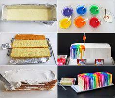 Melted Rainbow Cake