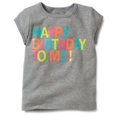 Carters Baby Infant Girls Happy Birthday Tee 6 Months -- To view further for this item, visit the image link.