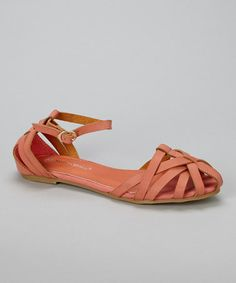 Love this Coral Istanbul Sandal on #zulily! #zulilyfinds