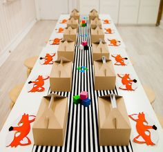 Striped Party Table Runner