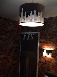 New York skyline light fitting plus NYC door hooks