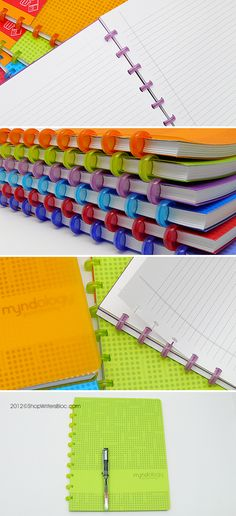 Myndology Sync Letter Disc Bound Notebook - College Ruled, JuniperMyndology Sync Letter disc bound notebook allows you the freedom to easily remove pages, add new pages or rearrange the pages in whatever order you wish. The Myndology Sync system of notebooks are interchangeable and compatible so you can rearrange and exchange covers, pages and discs between notebooks.