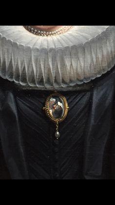 Portrait de Catharina Behaghel, épouse de Rogier Le Witer, 1635 Jacob Jordaens l'aîné Détail