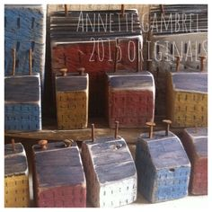 Original one of a kind Art Original Reclaimed wood art Saltbox houses by Annette Gambrel seller : ih-klek-tik on ebay. Or Annette g on pinterest