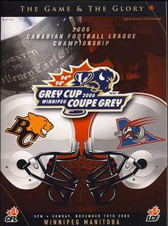 2006 Grey Cup program